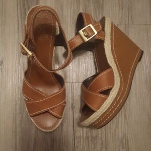 Vince Camuto Strappy Leather Wedges